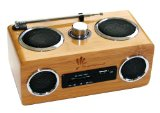 SwypeSound Mini Portable Bamboo Wood Boombox / Personal Speaker