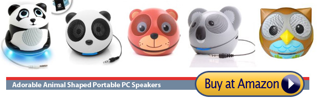 animal shaped usb speakers owl koala -teddy bear panda