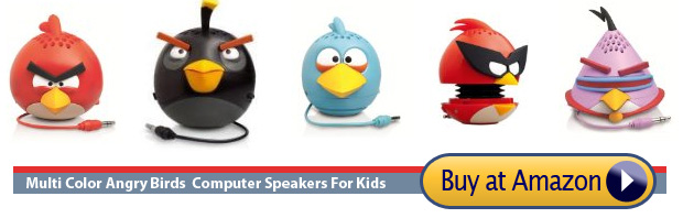 speakers inspired by popular android game angry birds