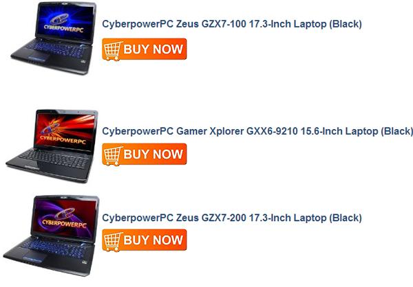 CyberpowerPC Zeus GZX7-100 17.3-Inch Laptop (Black)