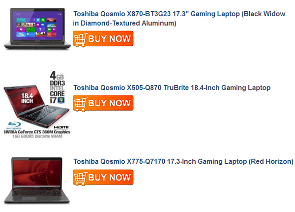 Toshiba Qosmio X775-Q7170 17.3-Inch Gaming Laptop (Red Horizon)